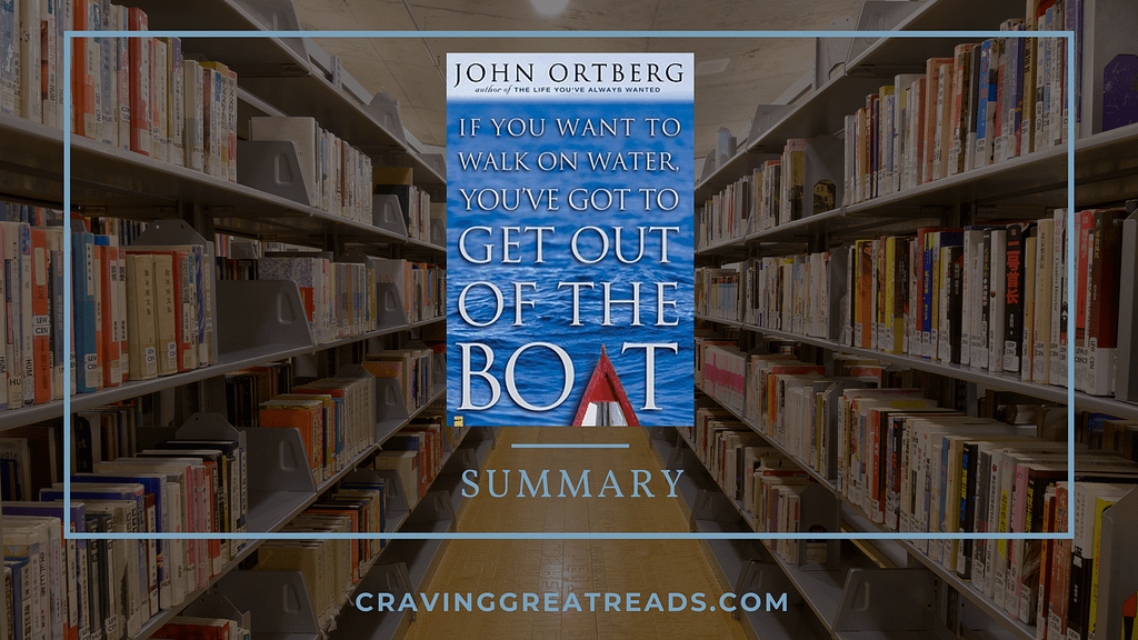 if you want to walk on water you've got to get out of the boat